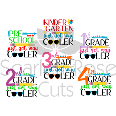 400x400 Back To School Svg Cut File, First Day Of Preschool Just Got Way