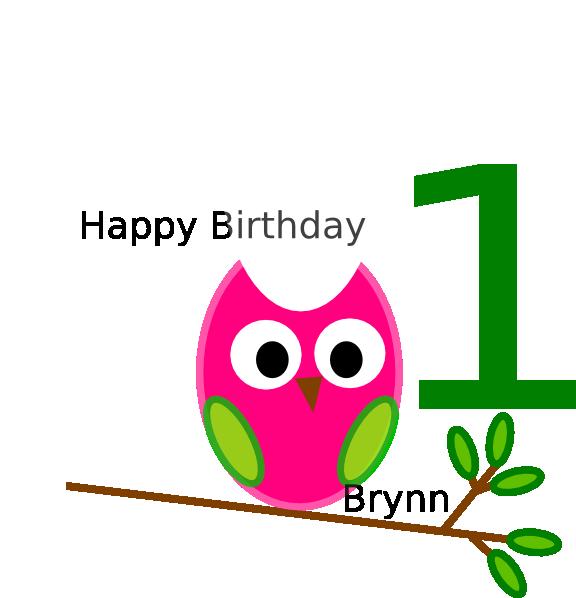 576x598 Birthday Owl Clip Art