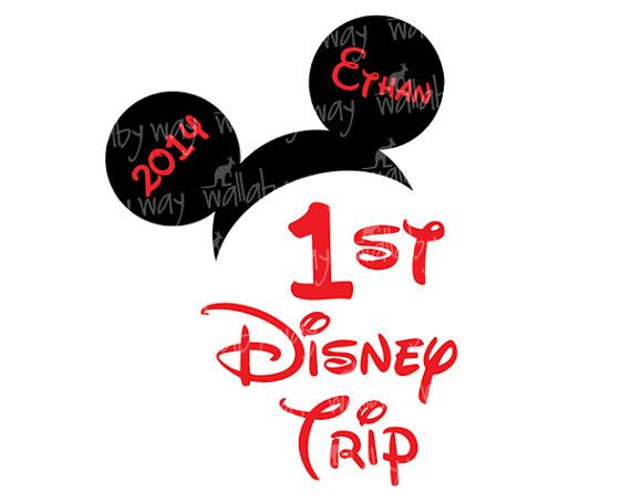 570x456 First Trip To Disney Mickey Ears Printable Iron On Transfer Or Use