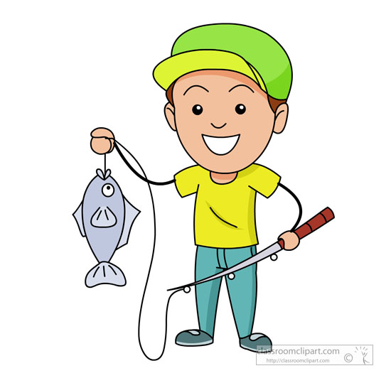 550x539 Clipart Catching Fish Royalty Free Fisherman A 388382 Vector Clip