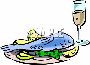 350x254 Cooked Fish Cartoon Clipart