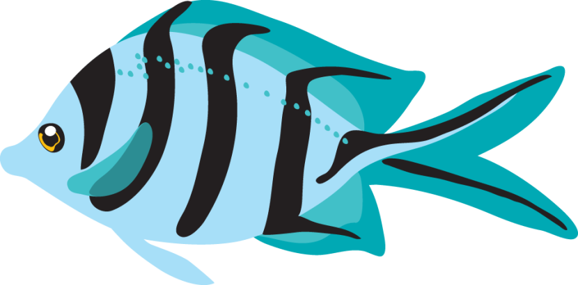 830x410 Fish Clipart