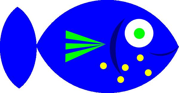 600x313 Blue Fish Clip Art Free Vector 4vector