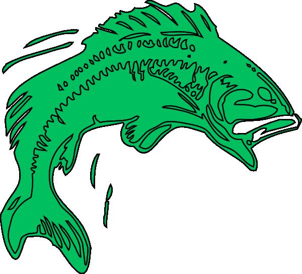 600x546 Green Fish Clip Art