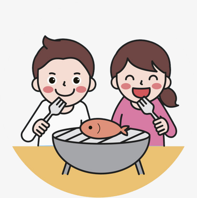 650x651 A Child Eating Fish, Child, Gladly, Eat Fish Png Image And Clipart
