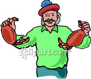 300x262 Crab Fisherman Clipart