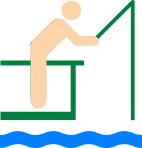 285x298 Fisherman Clip Art