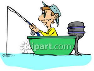 300x228 Boat Clipart Fisherman Boat