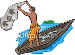 300x219 Fishing Rod Clipart Fisherman Net