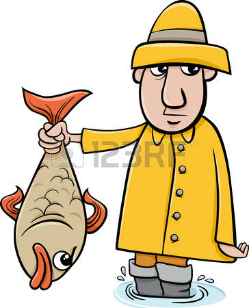 364x450 Cartoon Fisherman Clip Art 101 Clip Art