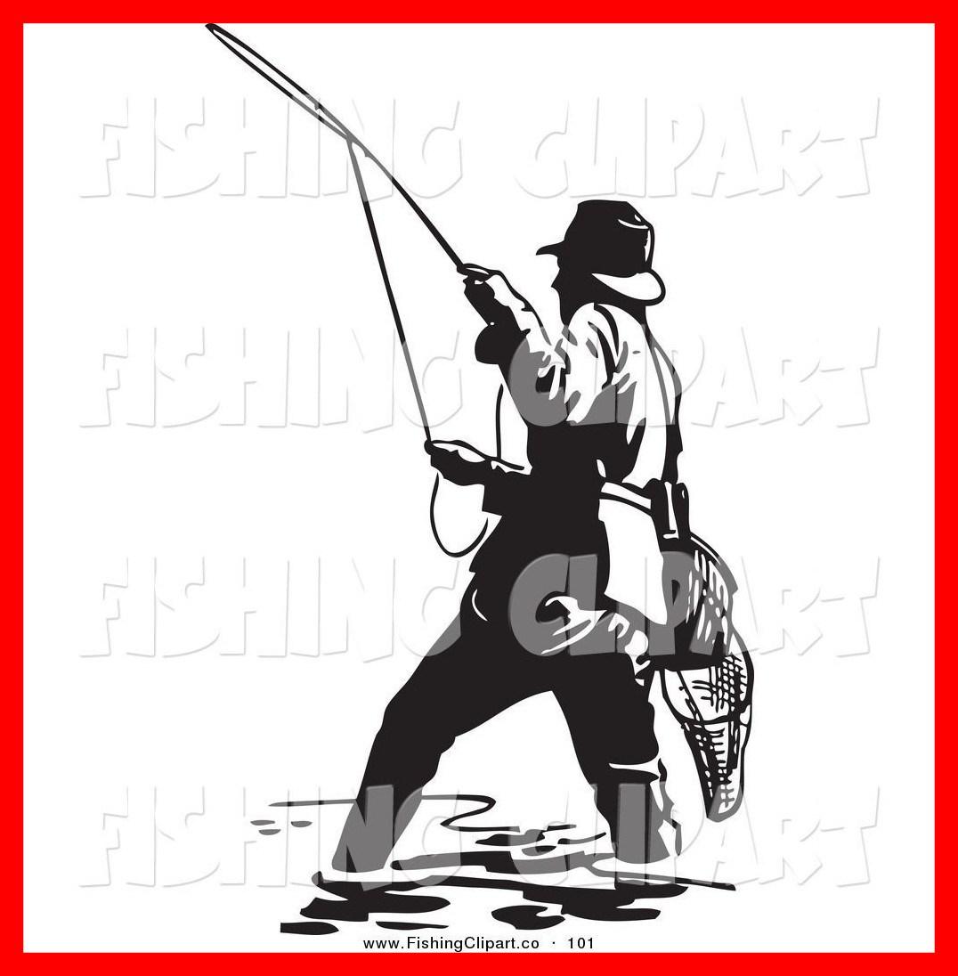 1076x1096 Unbelievable Fisherman Clipart Clip Art Of A Sporty Black