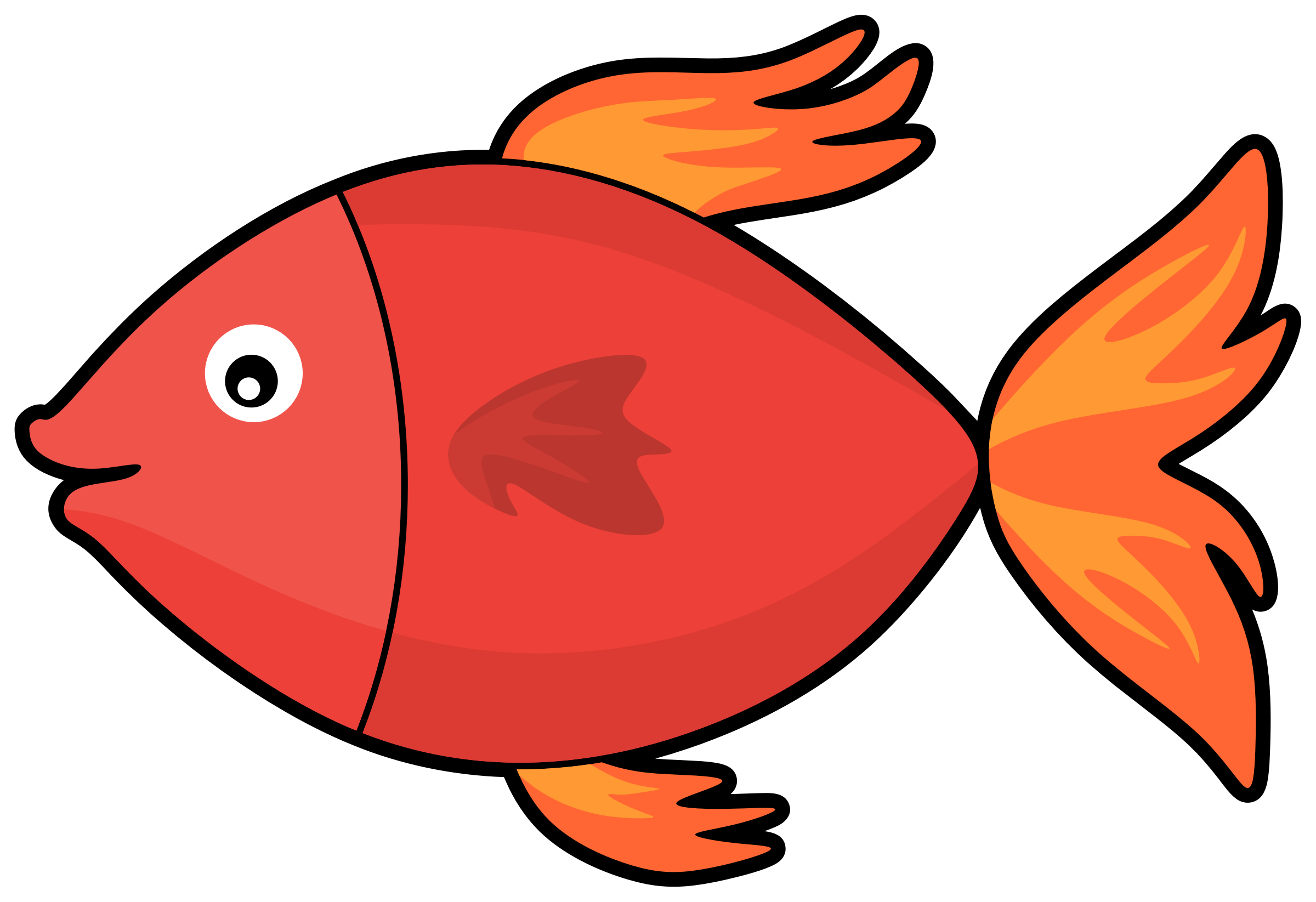 2400x1645 Clipart Cartoon Fish Images On Page 0 Yanhe Clip Art