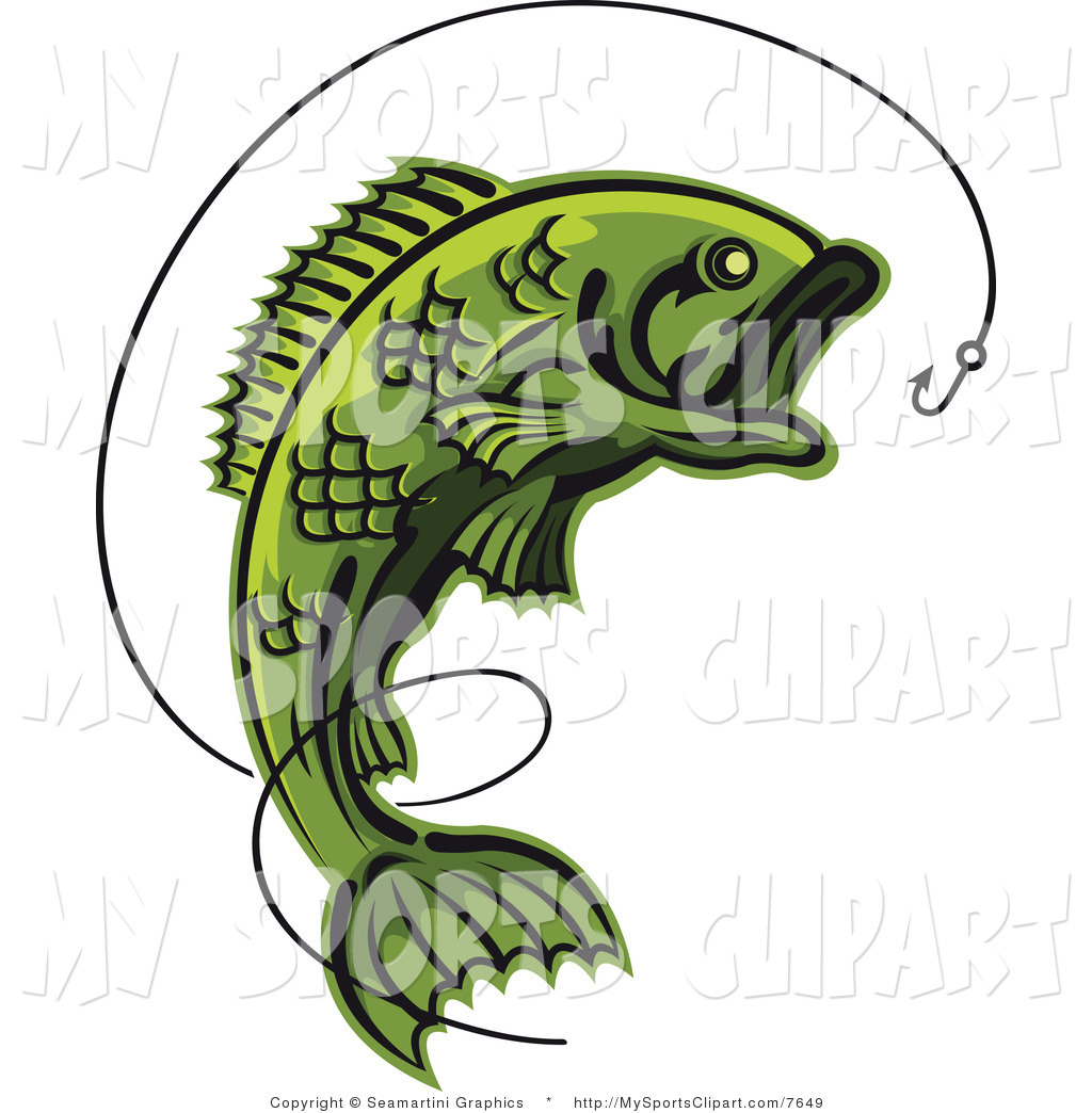 1024x1044 Sports Clip Art Of A Fish And Hook With Line By Vector Tradition