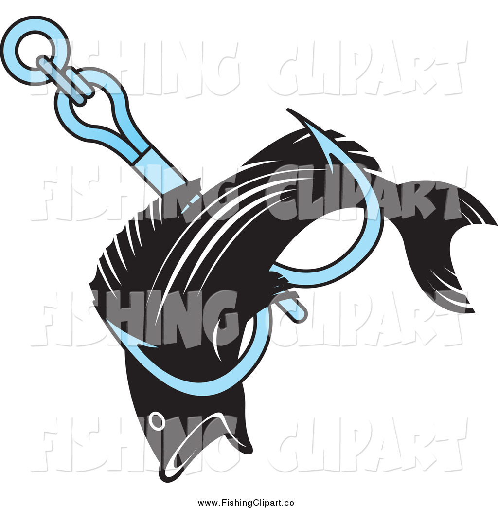 1024x1044 Clip Art Of A Fish Caught In A Fishing Hook By Lal Perera