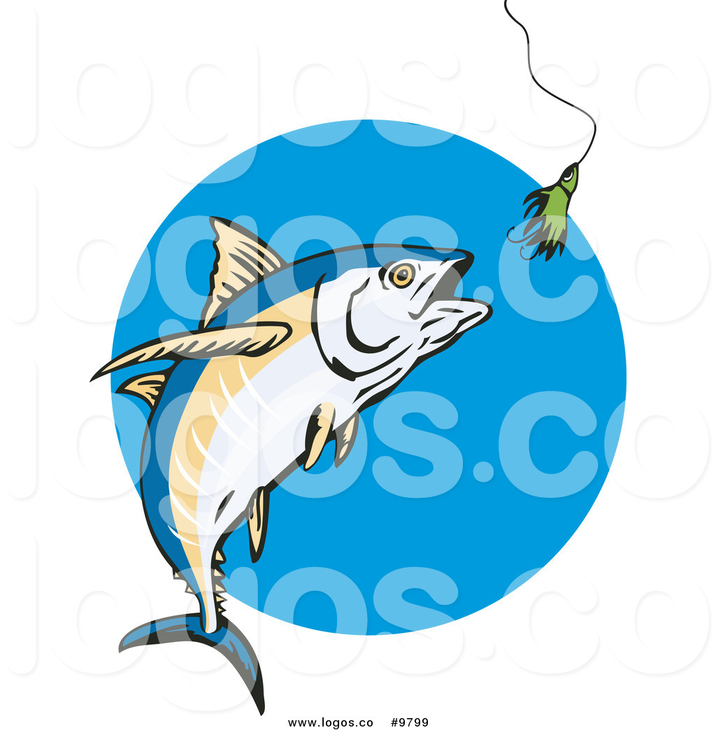 1024x1044 Royalty Free Clip Art Vector Logo Of An Albacore Tuna Fish Chasing