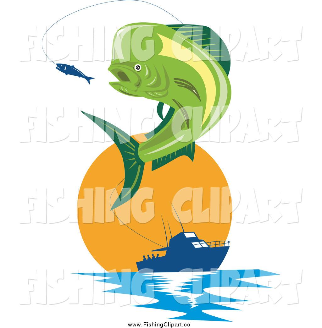 1024x1044 Clip Art Of A Retro Mahi Mahi Dolphin Fish Jumping