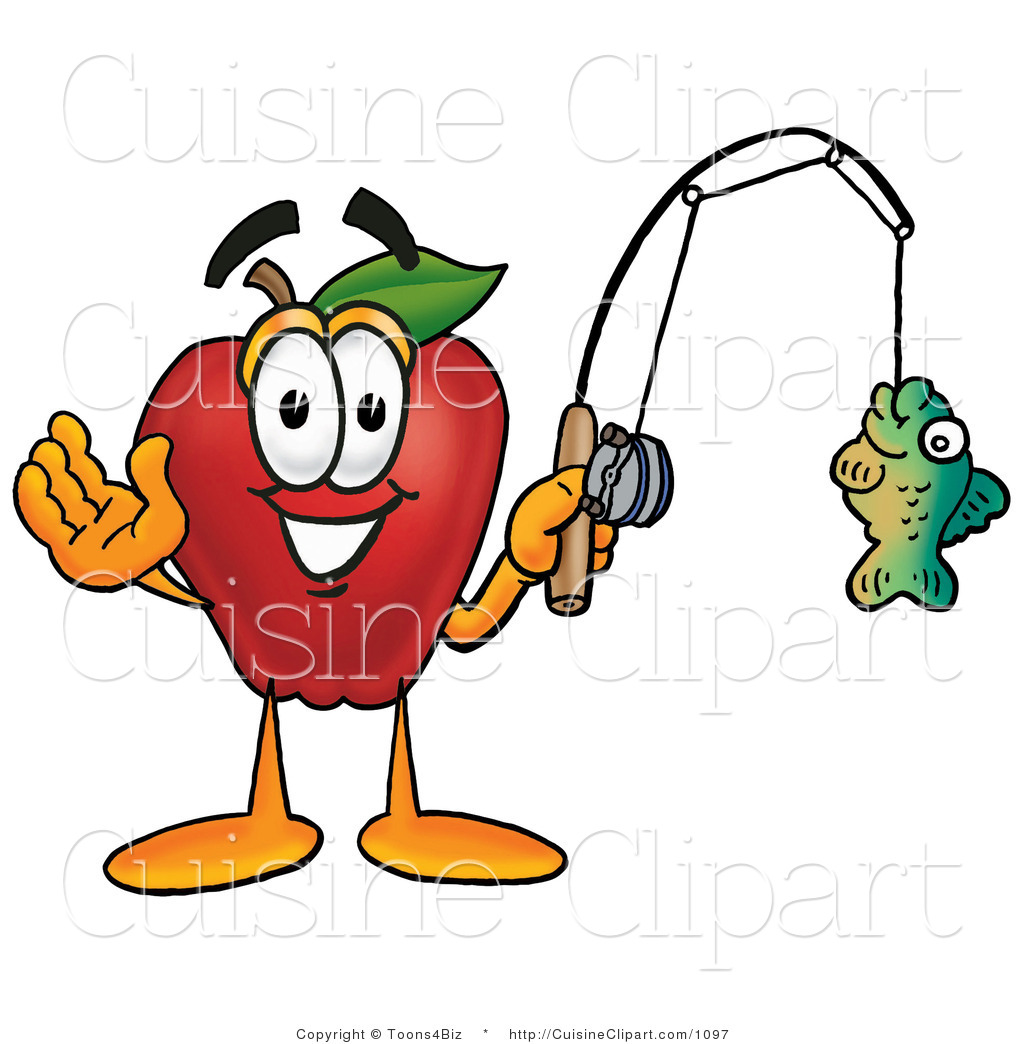 1024x1044 Cuisine Clipart Of A Nutritious Red Apple Character Mascot Holding