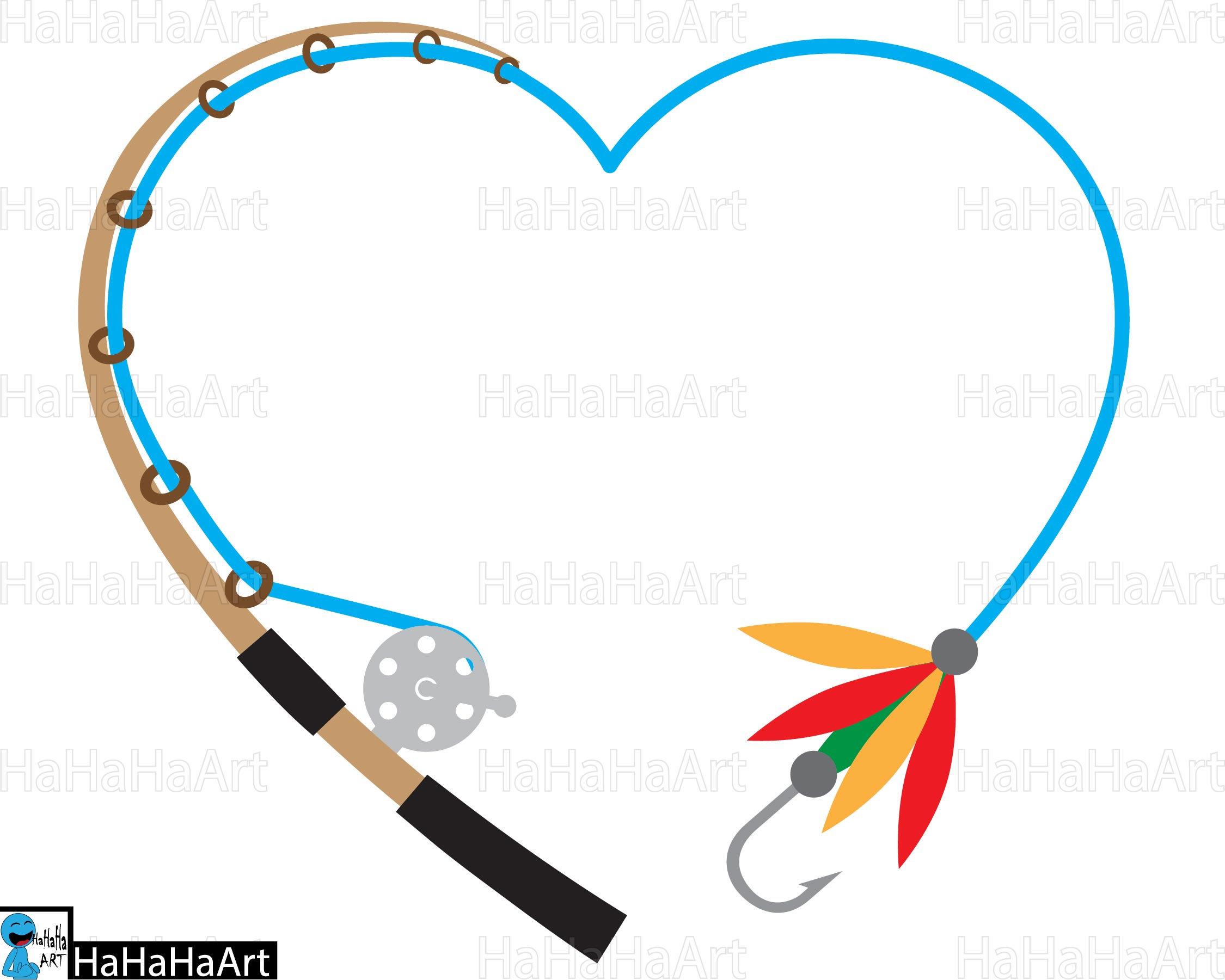 2250x1801 Heart Fishing Rod Clipart Cutting Files Svg Png Jpg Dxf