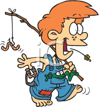 323x350 Hillbilly Boy With A Fishing Pole And A Frog In His Pocket