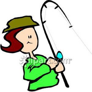300x300 Women Fishing Clip Art Woman Holding A Fishing Pole Royalty Free