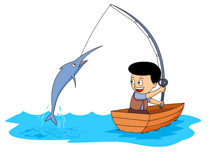 210x153 Clipart Catching Fish Clipground