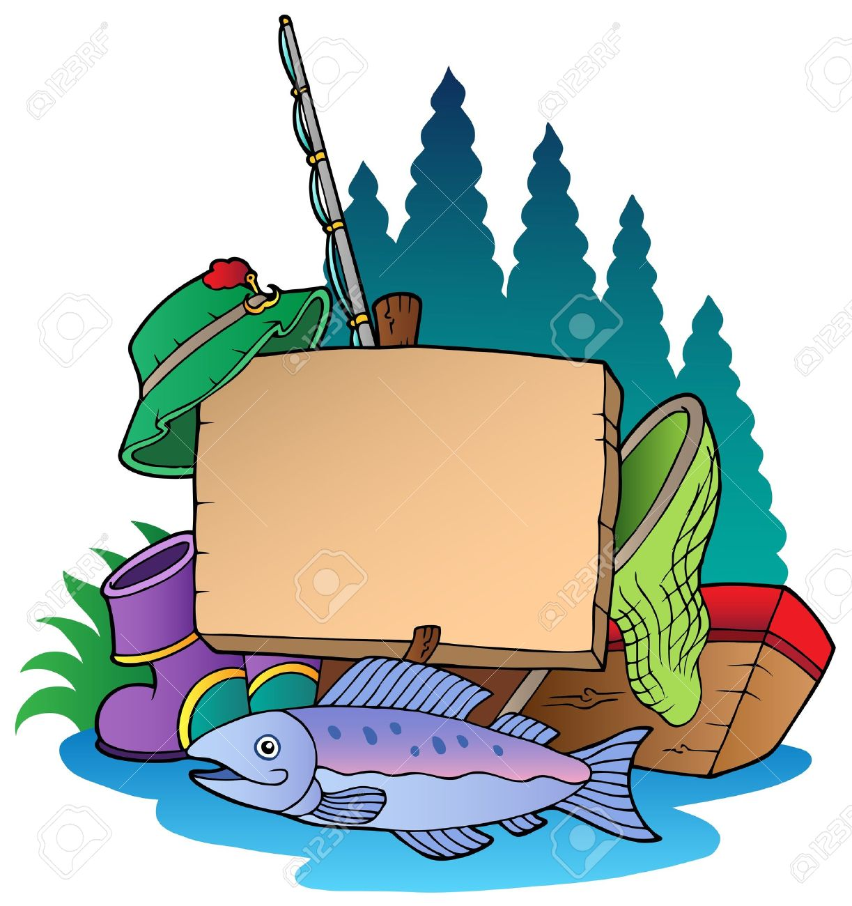 1223x1300 Fishing Supplies Clipart