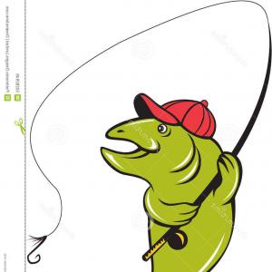 300x300 Stock Illustration Fishing Rod Vector Clip Art White Background