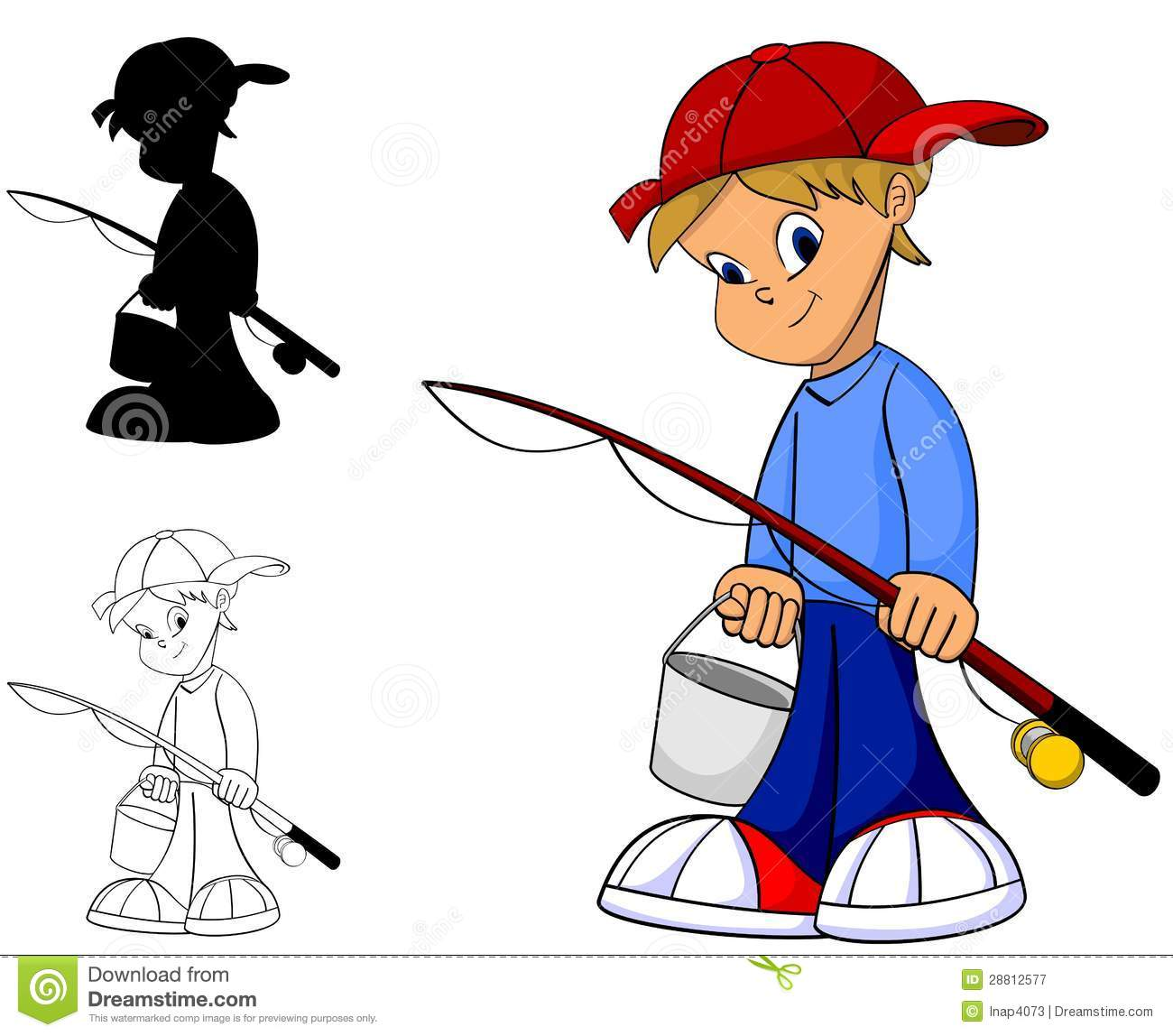 1300x1148 Young Boy Fishing Pole Clipart, Explore Pictures