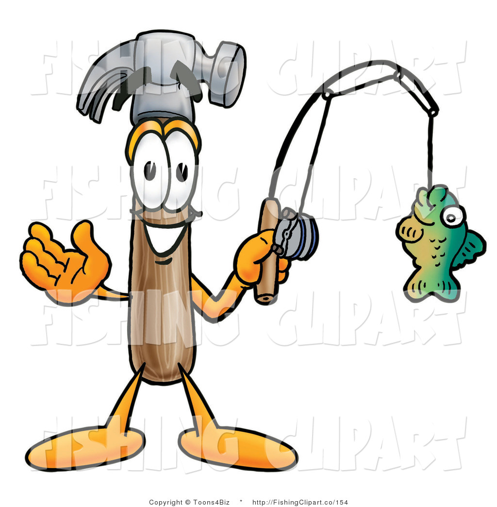 1024x1044 Cliprt Of Friendly Hammer Mascot Cartoon Character Holding