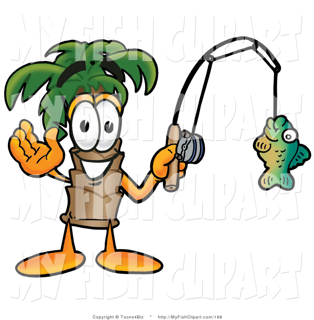 1024x1044 Cliprt Of Happy Palm Tree Mascot Cartoon Character Holding