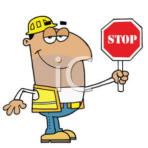 299x300 Clipart Picture A Hispanic Construction Worker With A Five O