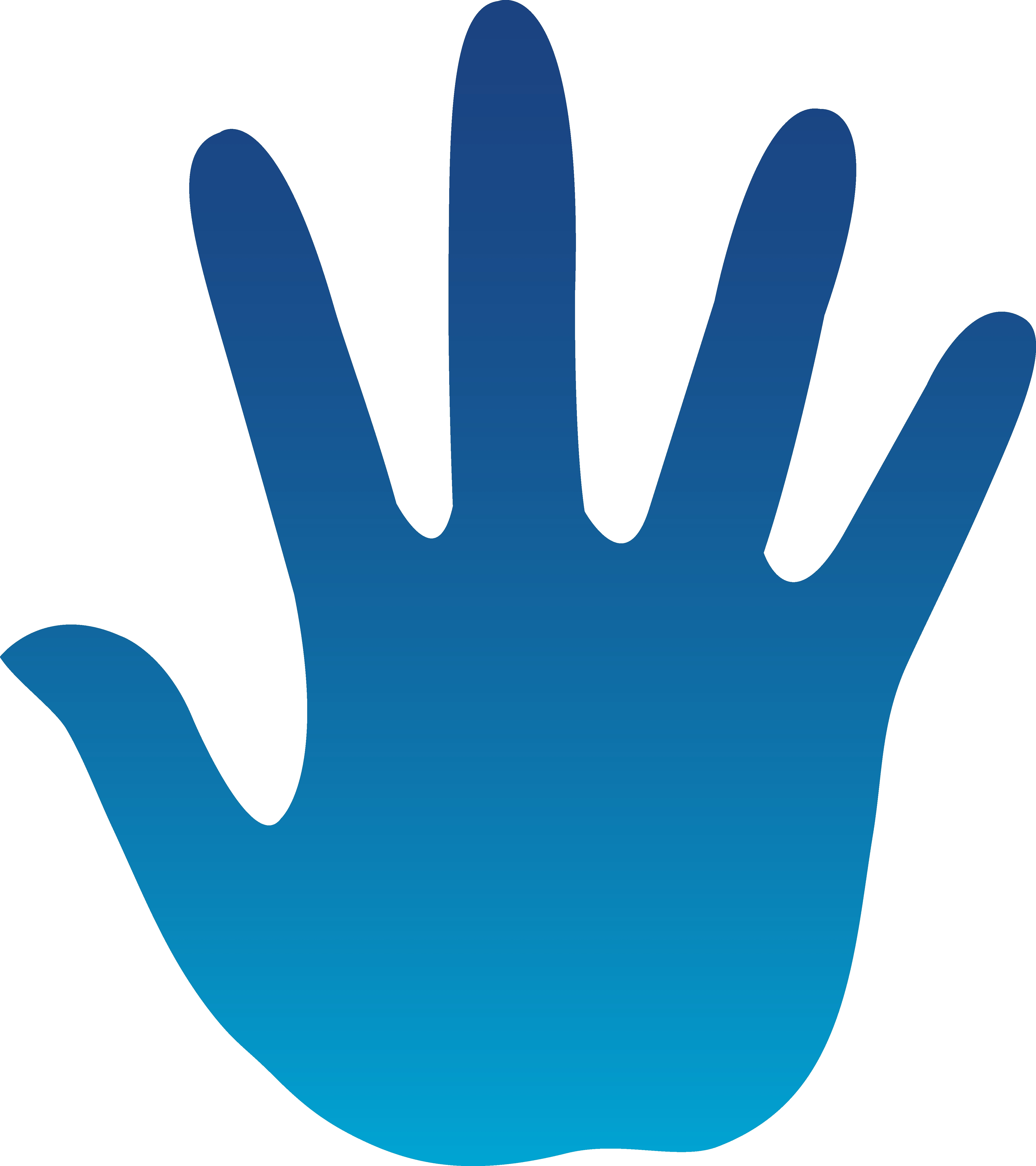 4479x5039 Awesome High Five Clipart Design