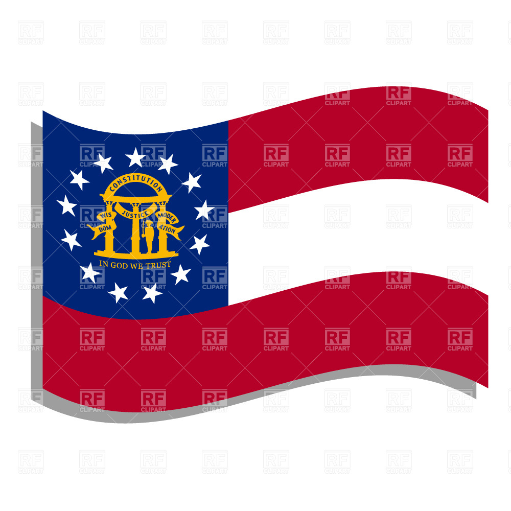 1000x1000 Georgia State Flag Royalty Free Vector Clip Art Image