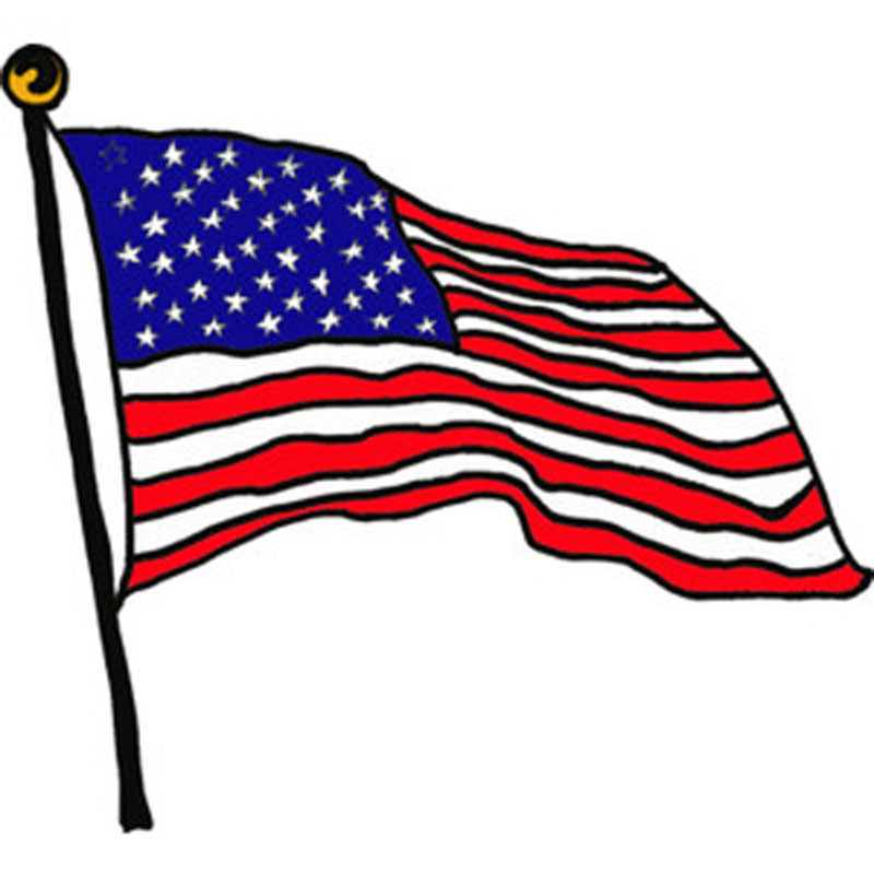 800x800 American Flag Clipart Animated