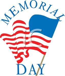 255x300 Clip Art Image A Memorial Day Flag