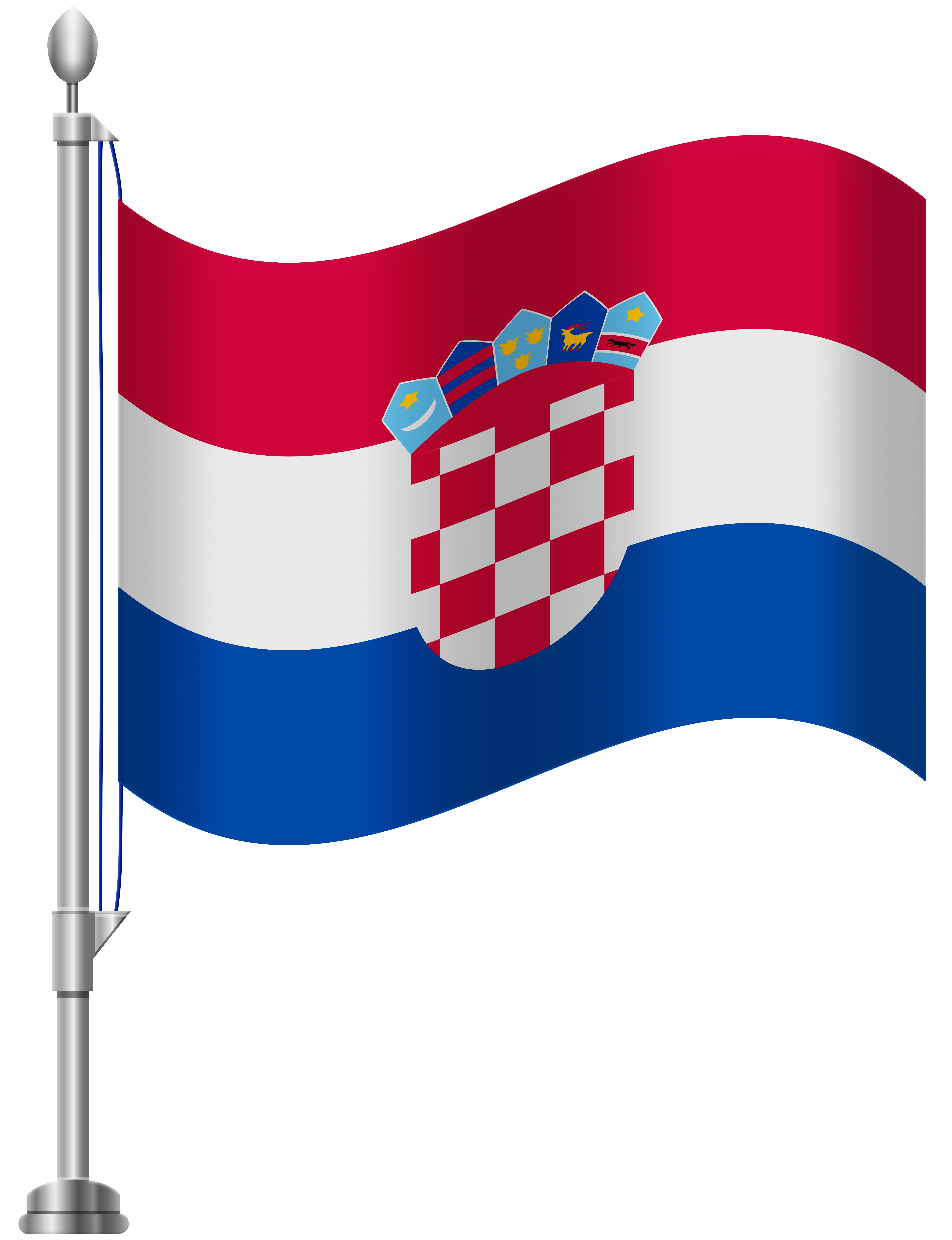 6141x8000 Croatia Flag Png Clip Art