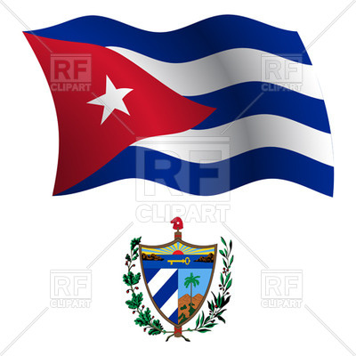 400x400 Cuba Flag And Coat Of Arms Royalty Free Vector Clip Art Image