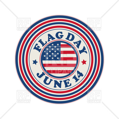 400x400 Flag Day Celebration Stamp Royalty Free Vector Clip Art Image