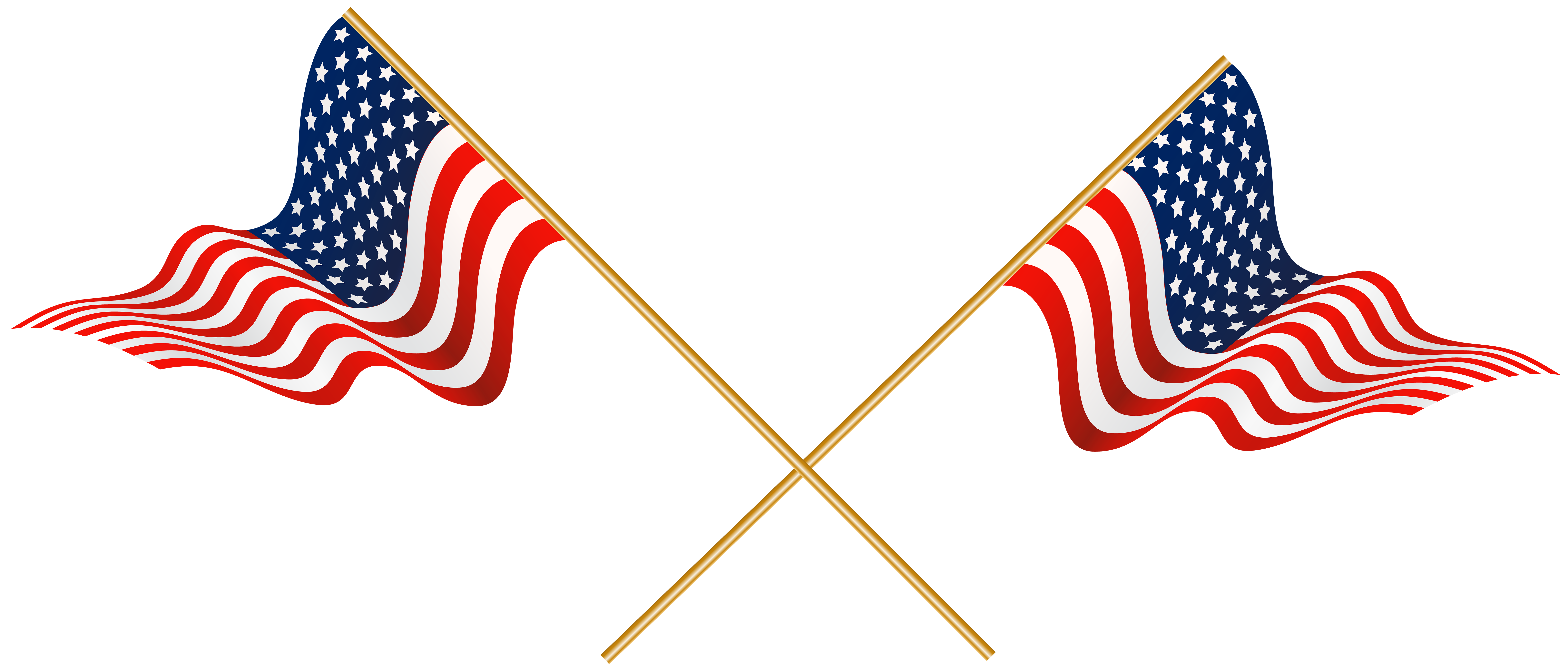 8000x3421 Usa Crossed Flags Transparent Png Clip Artu200b Gallery Yopriceville