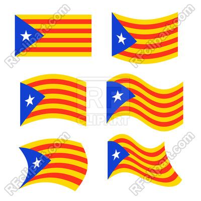400x400 Catalonia Flag Set Royalty Free Vector Clip Art Image