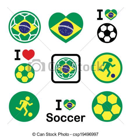450x470 Brazilian Flag, Football Icons. Soccer Ball With Flag Of Brazil