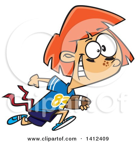 450x470 Clipart Football Halfback Running