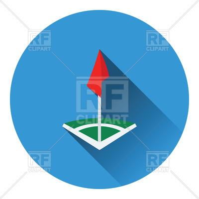 400x400 Icon Of Football Field Corner Flag Royalty Free Vector Clip Art