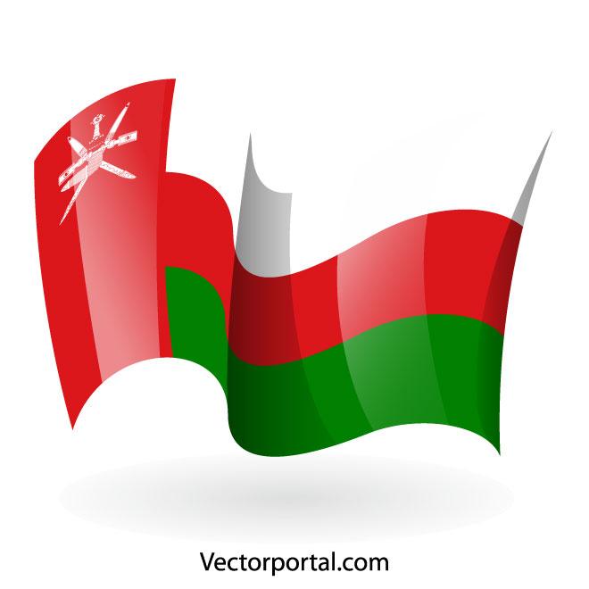 660x660 Oman Flag Vector Clip Art