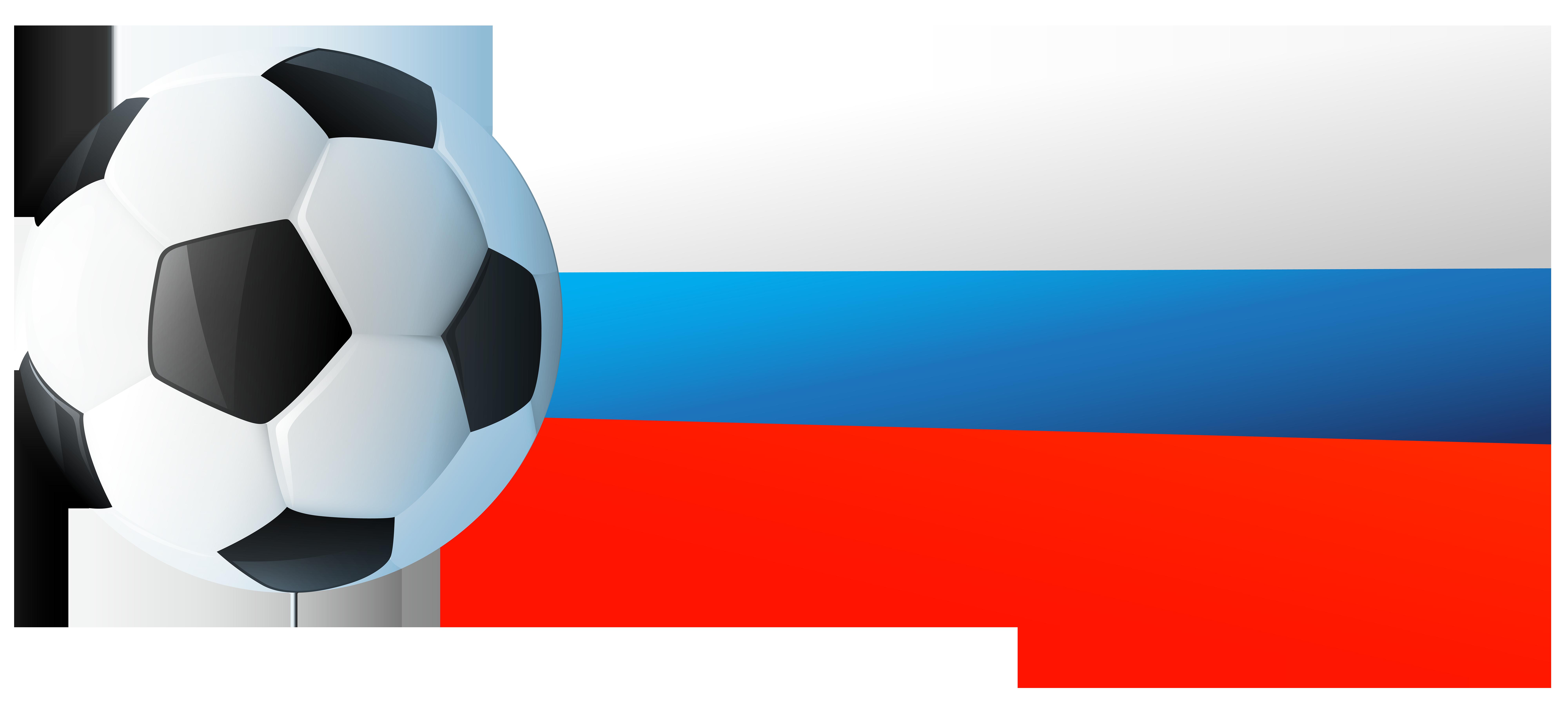 8000x3604 Russian Flag With Soccer Ball Png Clip Art Imageu200b Gallery