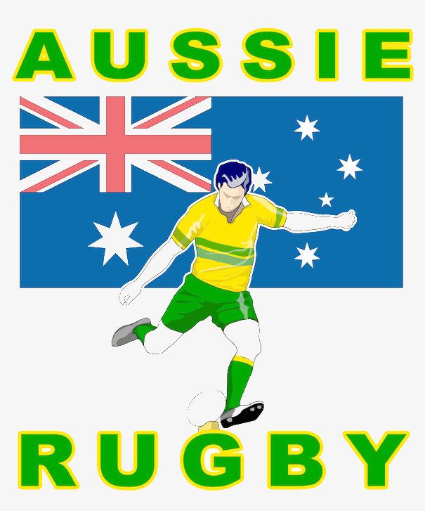 605x727 Australian Rugby Player Behind The Flag, Australian Flag, Flag