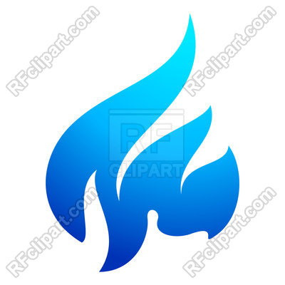 400x400 Flame Blue Icon On A White Background Royalty Free Vector Clip Art
