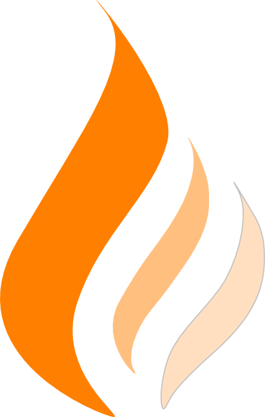 378x595 Orange Flame Clip Art