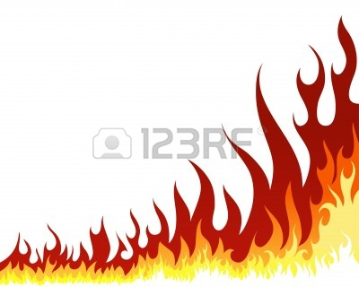 400x320 Fire Border Clip Art Fire Border With White Background Clipart