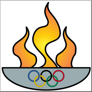 304x304 Clip Art Olympic Flame Color I Abcteach